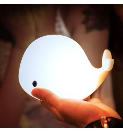 Whale rechargable soft night light