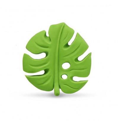 natural rubber teething leaf