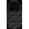Saco pequeño polar negro plumas 0-6 meses
