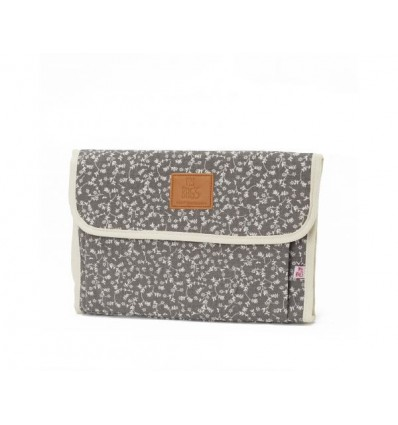 Portable baby changer liberty flower grey