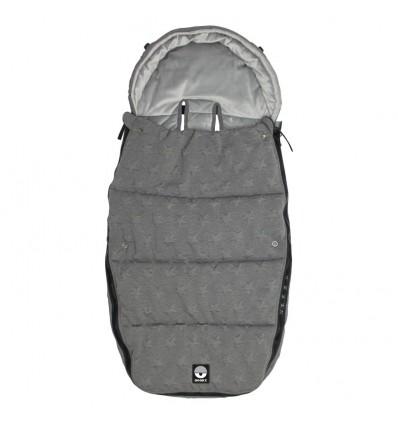 Universal polar footmuff knitted star grey