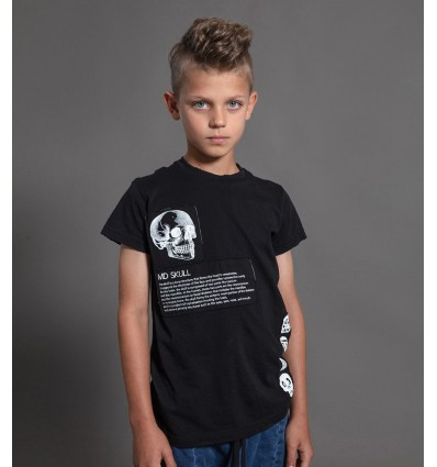 skull evolution black t-shirt