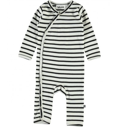 black and white stripped baby romper