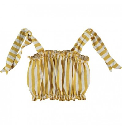 stripped valentina cropped top yellow