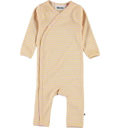 yellow stripped baby romper