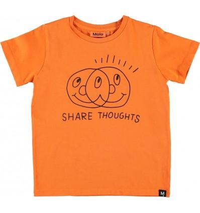 Camiseta naranja shared thoughts
