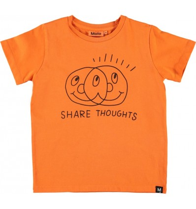 shared thoughts orange t-shirt