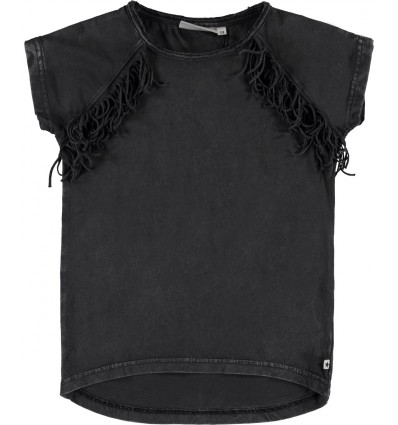 Camiseta flecos sin mangas