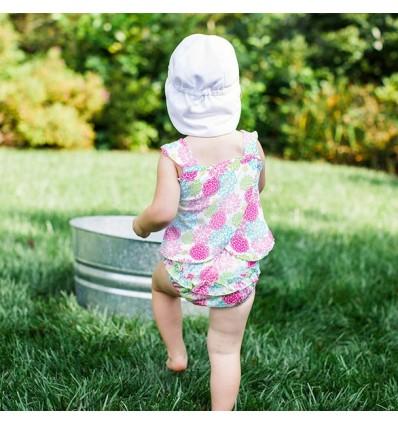 baby tankini swim diaper flowers
