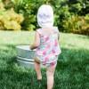 tankini bebé con bañador pañal flores