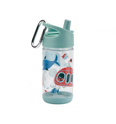 botella infantil tritán pajita océano
