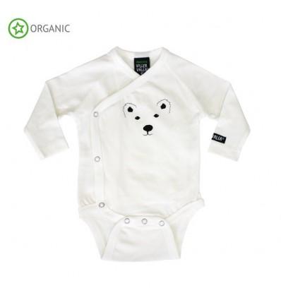 baby kimono bodysuit polar bear
