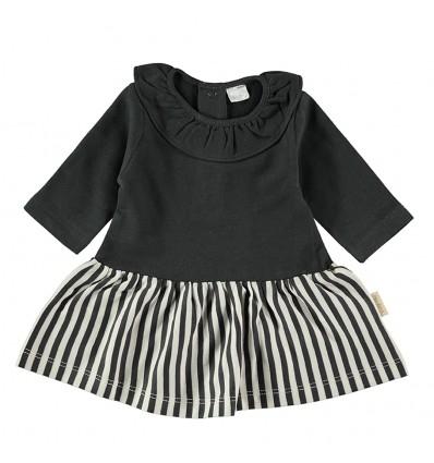 flannel baby dress stripped skirt