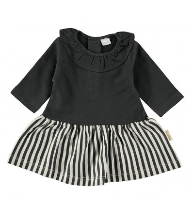 vestido bebé franela falda rayas