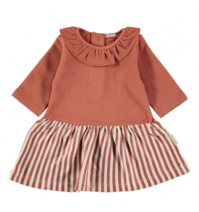 flannel baby dress stripped skirt earth