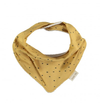 dribble bib bandana pima cotton amber