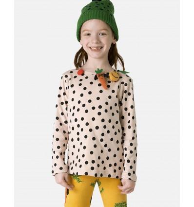 Camiseta lunares frutas y verduras