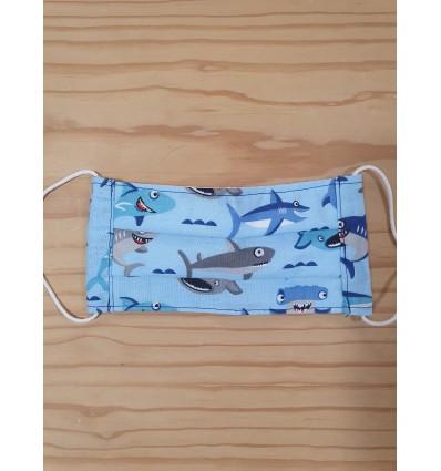Mascarilla higiénica tiburón