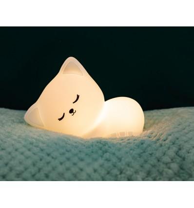 lámpara quitamiedos recargable gato
