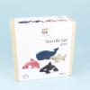 sea animals wooden set