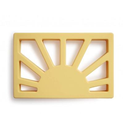 silicone teether sun yellow
