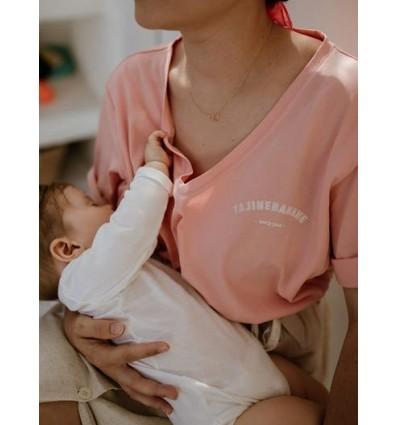 Camiseta lactancia lisa rosa