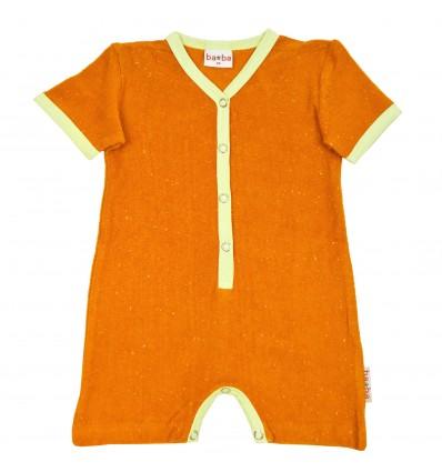 mono corto bebé naranja