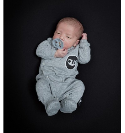 mask grey footed newborn overall