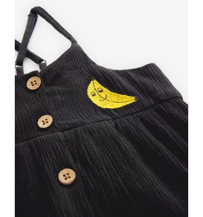 banana black strap dress