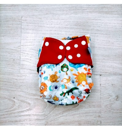 crayon animals cloth diaper