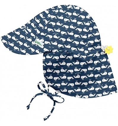 flap sun protection hat navy whale