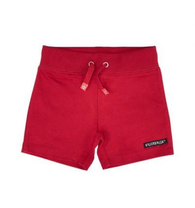 red organic shorts