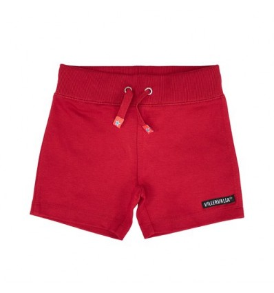 shorts orgánicos lisos rojos