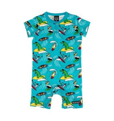 surfing animals organic baby summer suit