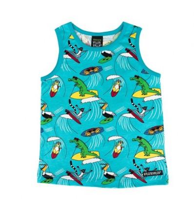 camiseta sin mangas animales surf