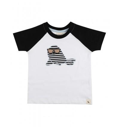 Camiseta raglan foca
