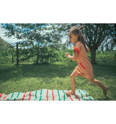 Diagonal stripes organic dress