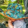 gorro solar con protección reversible animales naranja