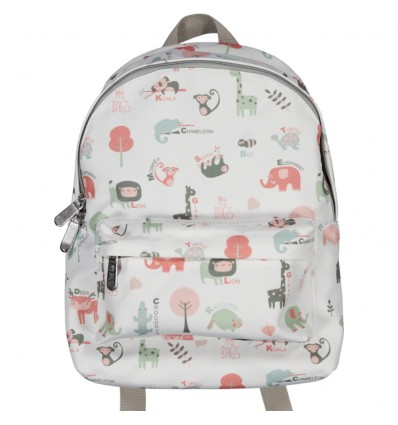 animals coral toddler backpack