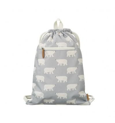 polar bear recycled drawstring bag