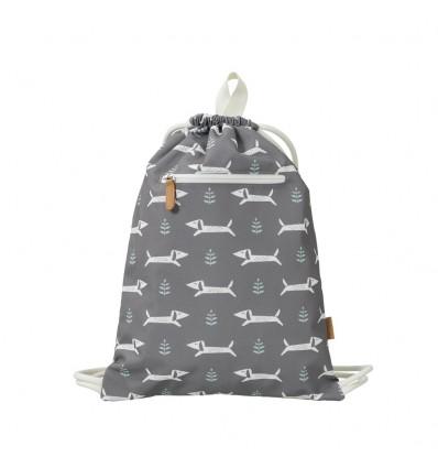 dog recycled drawstring bag