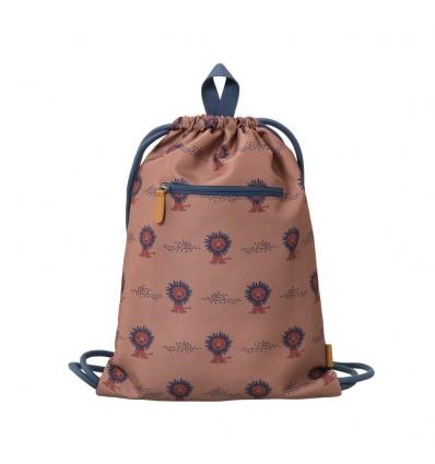 lion recycled drawstring bag