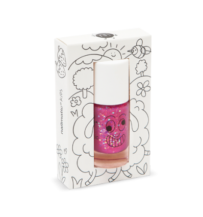 Esmalte brillo rosa con purpurina - Sheepy