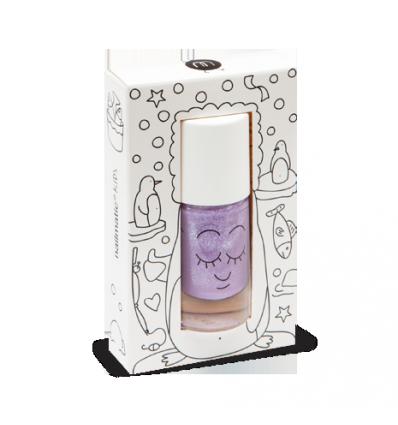 lilac glitter nail polish Piglou