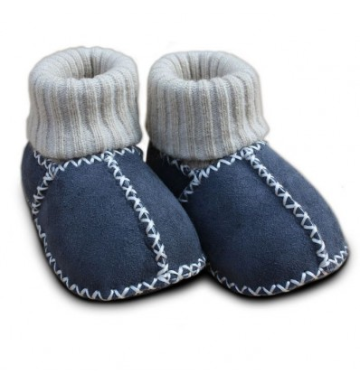 Lambskin shoes with knitted cuffs white