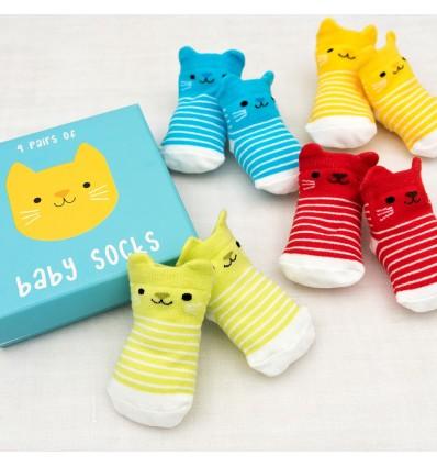 kitten baby socks (4 pairs)