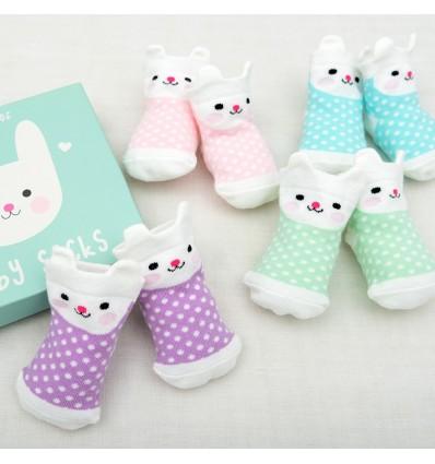 Calcetines bebé conejito (4 pares)