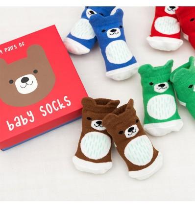 Calcetines bebé oso (4 pares)