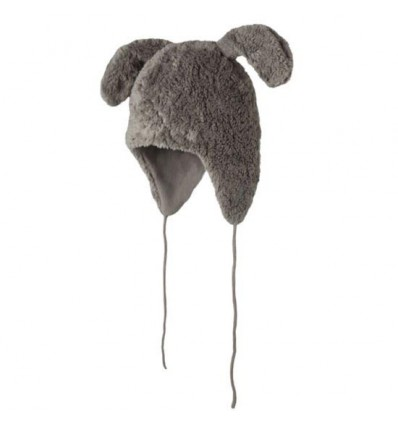 bunny ears hat grey