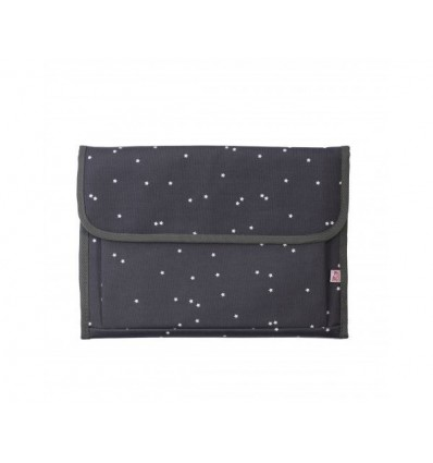 Portable baby changer grey little stars